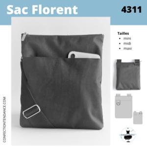 Sac Florent - Patron et tutoriel PDF à télécharger